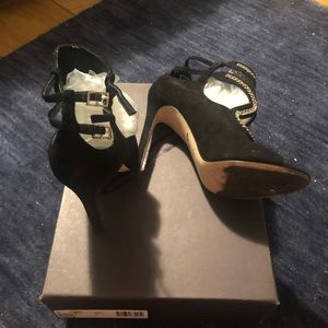 Brian Atwood Shoes - Black Open Toe Booties (size 8) - Brian Atwood